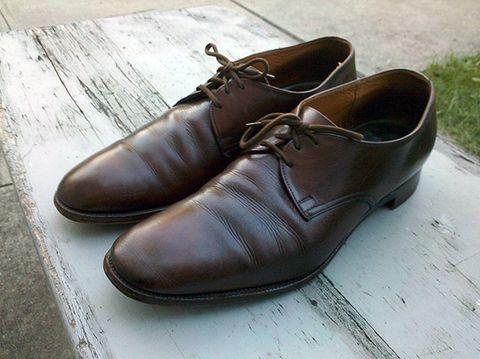 325ec5fcbda8 Church's Custom Grade Consul Men's Brown plain toe derby oxford shoes are  made in Northhampton, England as they since 1873.