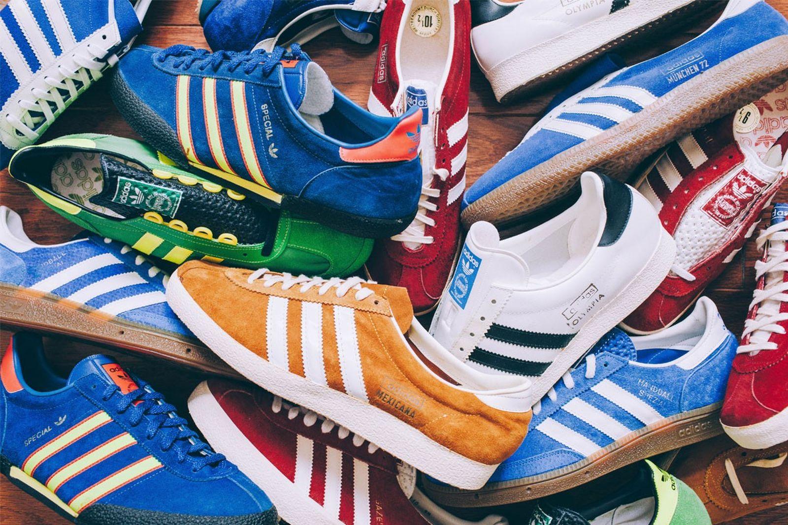 terrace footwear sneaker history Adidas diadora