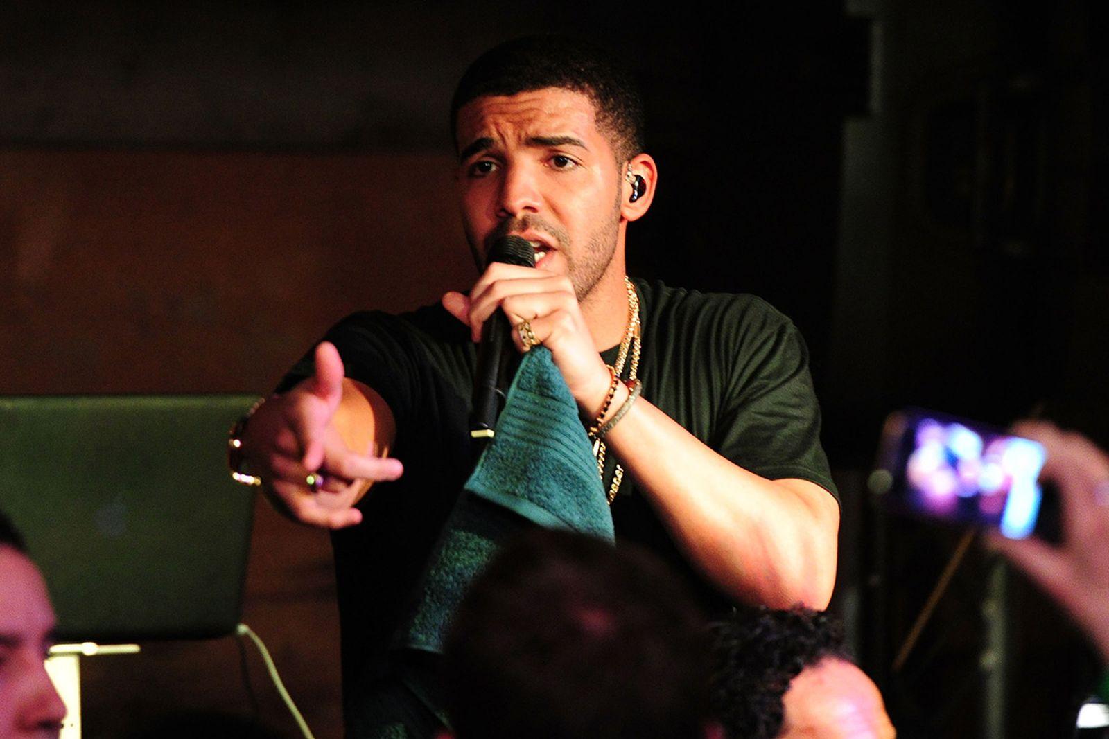 Drake performs At The Bing Bar - 2012