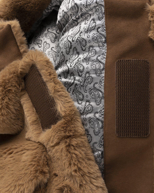 Acne Studios – Boxy Faux Fur Jacket Beige - Image 5