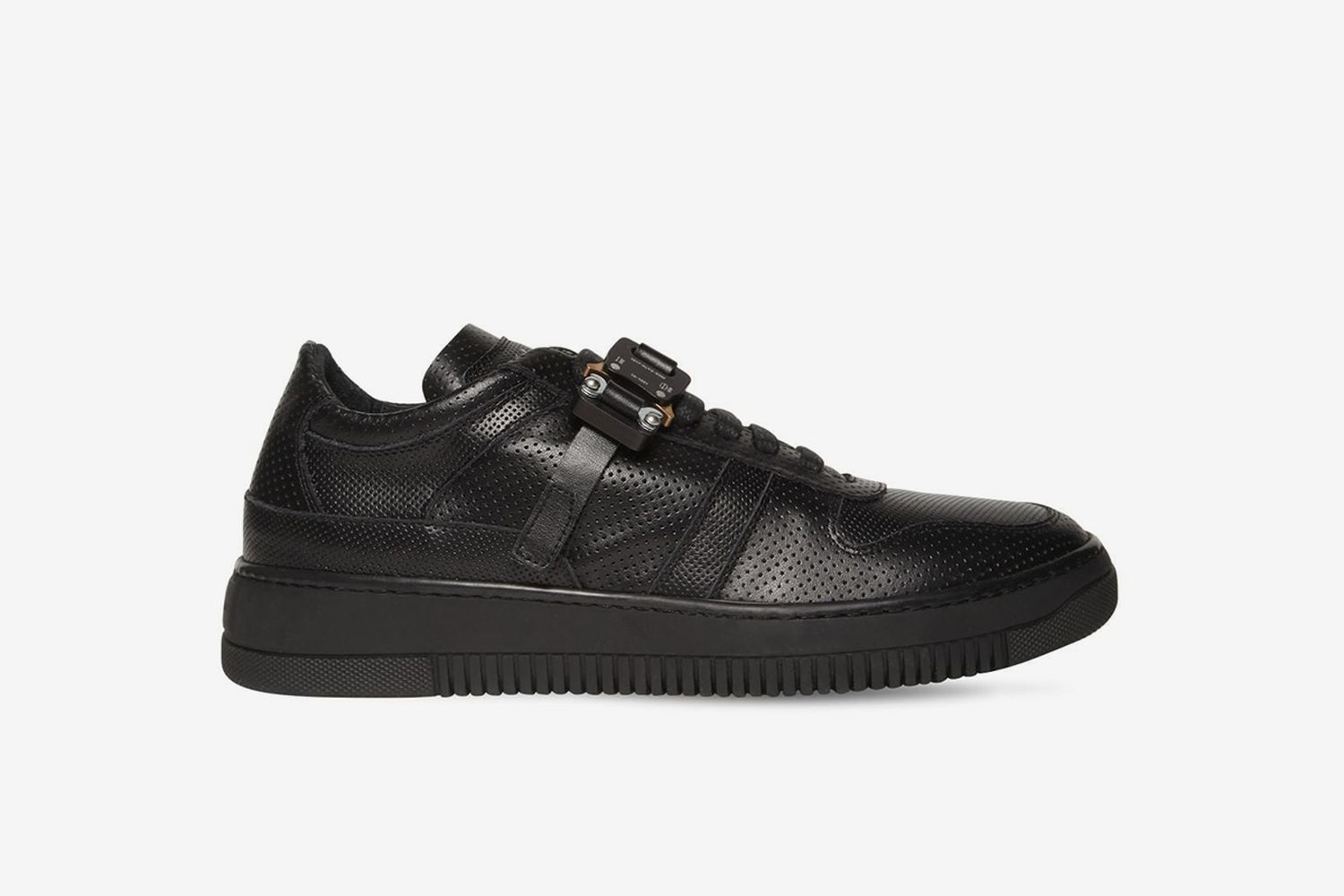 Buckle Leather Low-top Sneakers