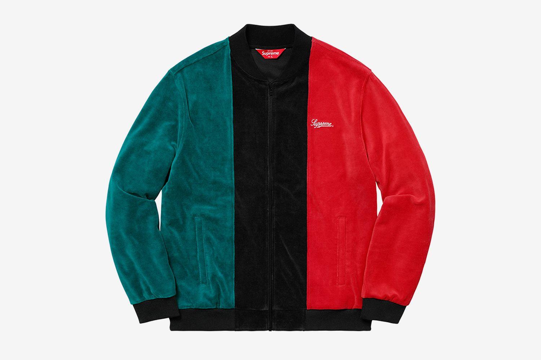 Velour Zip Up Jacket