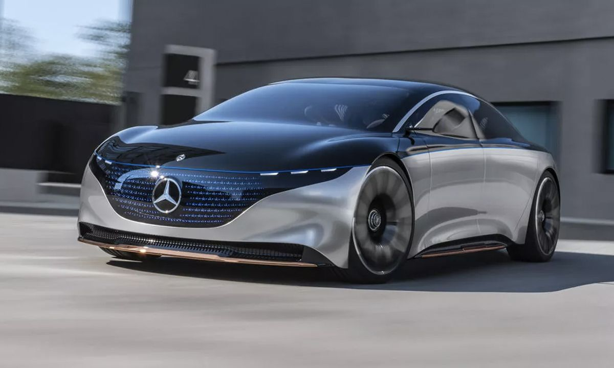 Mercedes-Benz Lights Up the Road With Vision EQS Electric Car