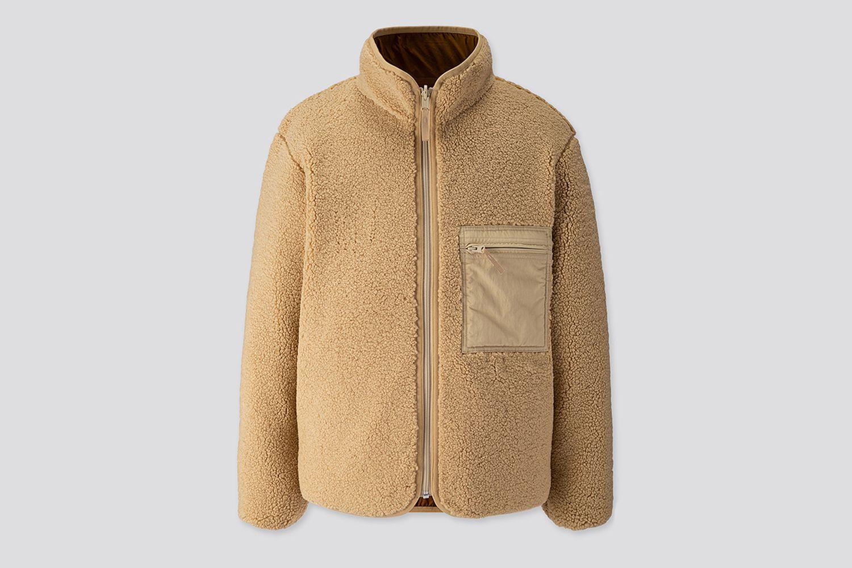 Pile-Lined Fleece Reversible Jacket