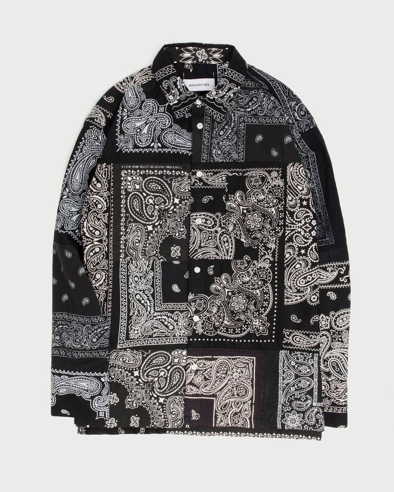 Miyagihidetaka — Bandana Shirt Black