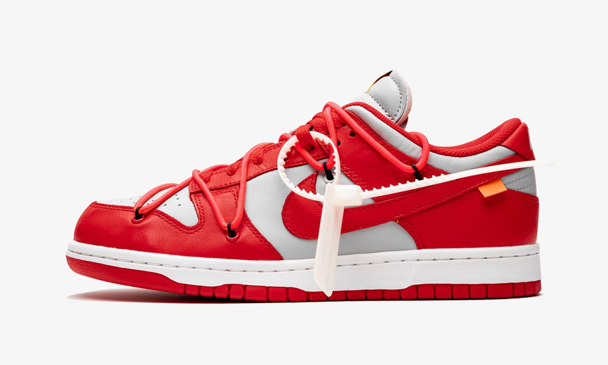 "Here's Your Best Look Yet at the Upcoming ""University Red"" Off-White™ x Nike Dunk Low"