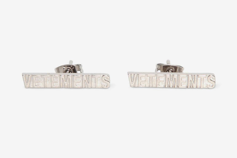 Logo Brass Earrings