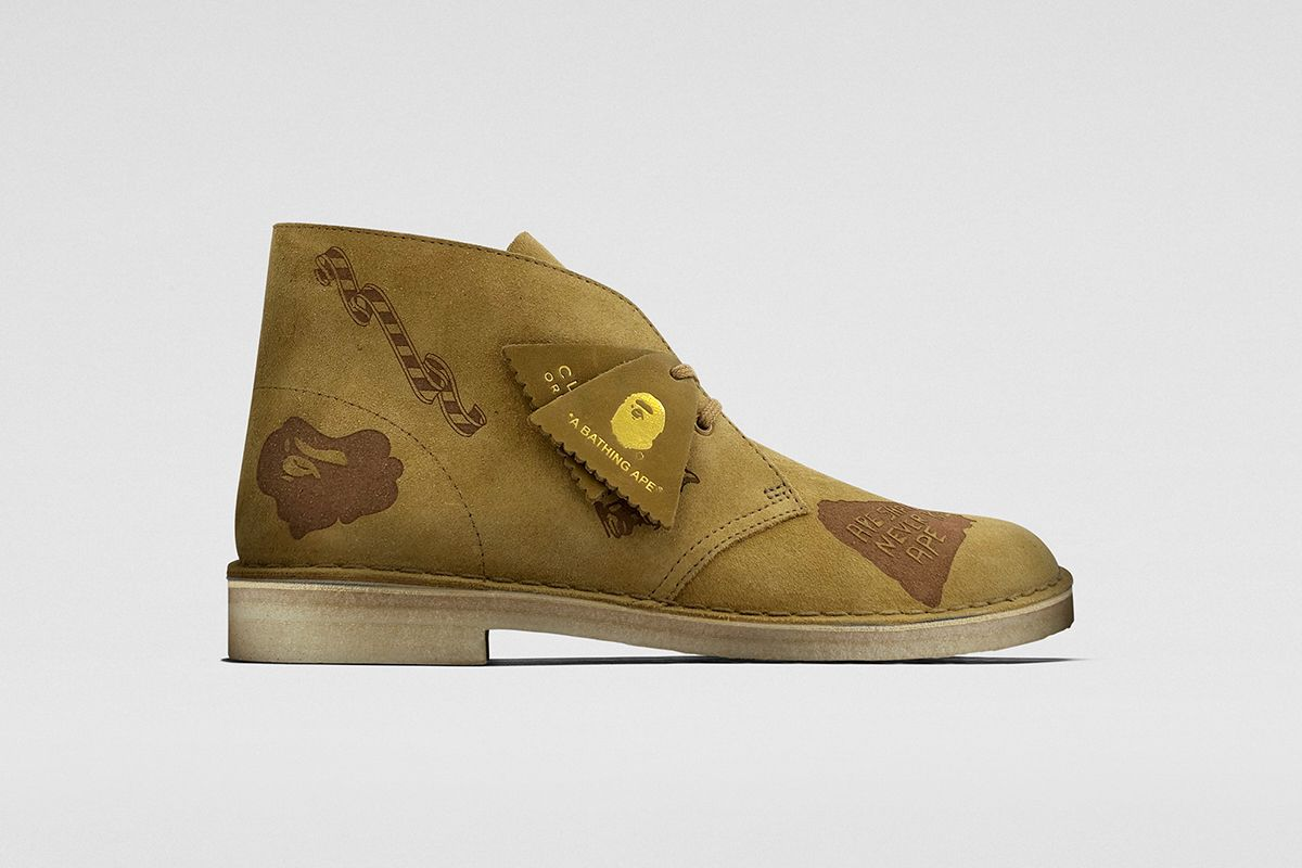 Raheem Sterling Debuts BAPE x Clarks Wallabees & Desert Boots 12