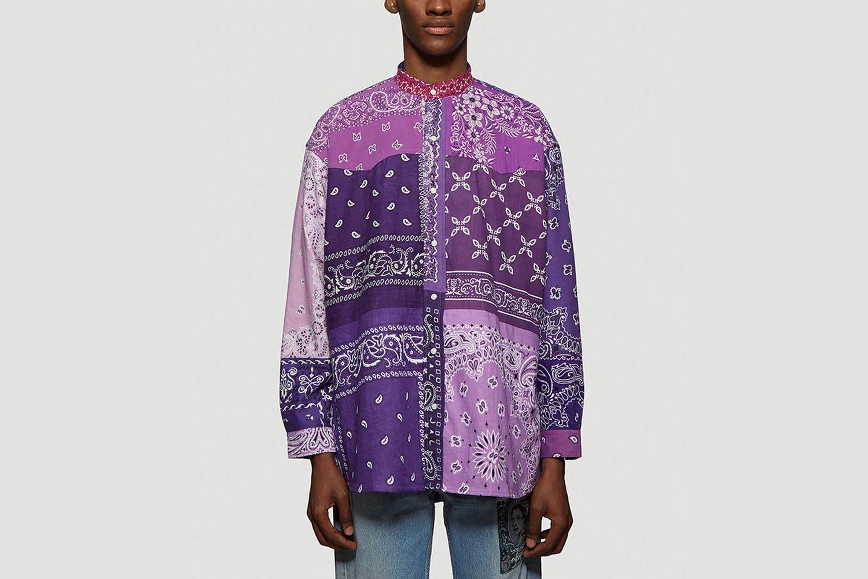 Vintage Bandana Patchwork Shirt