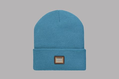 302c6c5211b The Metal Plate Beanie by Supreme comes in 7 different colors. It features  the Supreme logo on a metal plate stitched on a frontal leather patch.