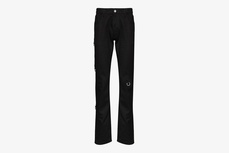 Ring Detail Slim Fit Jeans