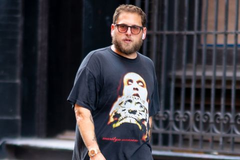 Jonah Hill glasses AirPods