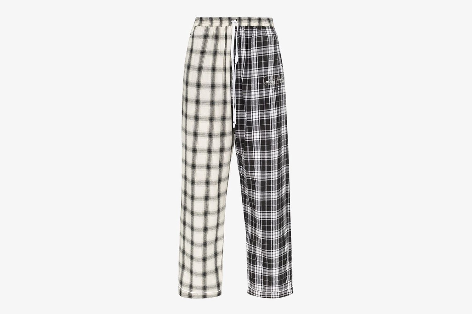 Contrasting Checked Pyjama Trousers