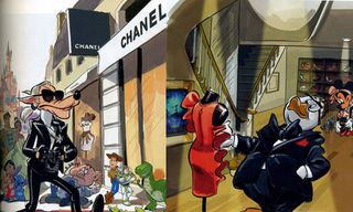 Fashion Designers As Disney Characters by Elle Magazine