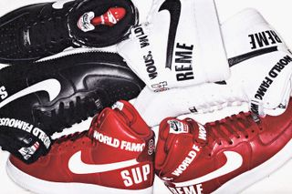wholesale dealer a0fa7 61474 A First Look at the Supreme x Nike Air Force 1 Hi Pack | Highsnobiety