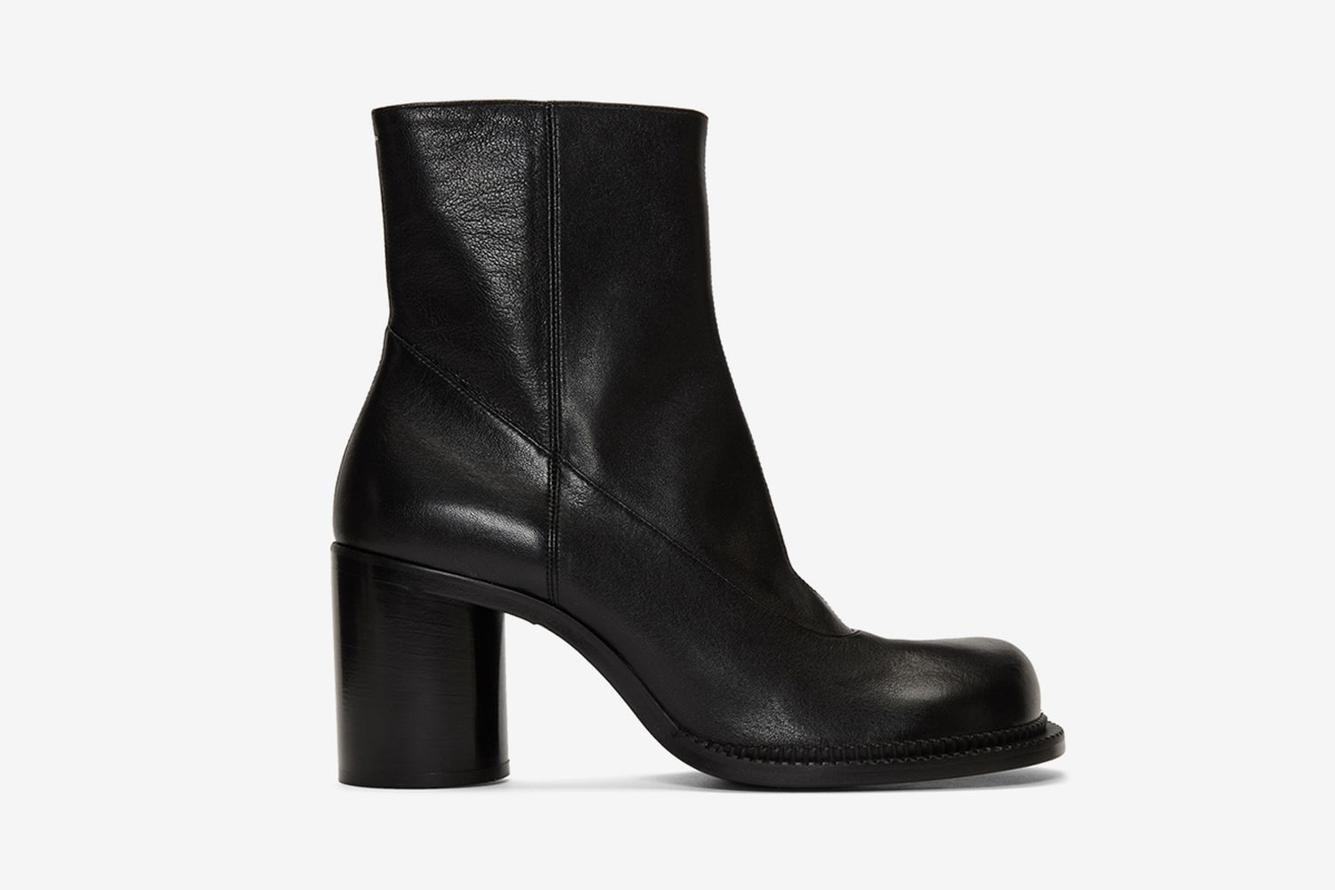 Leather Zip Boots