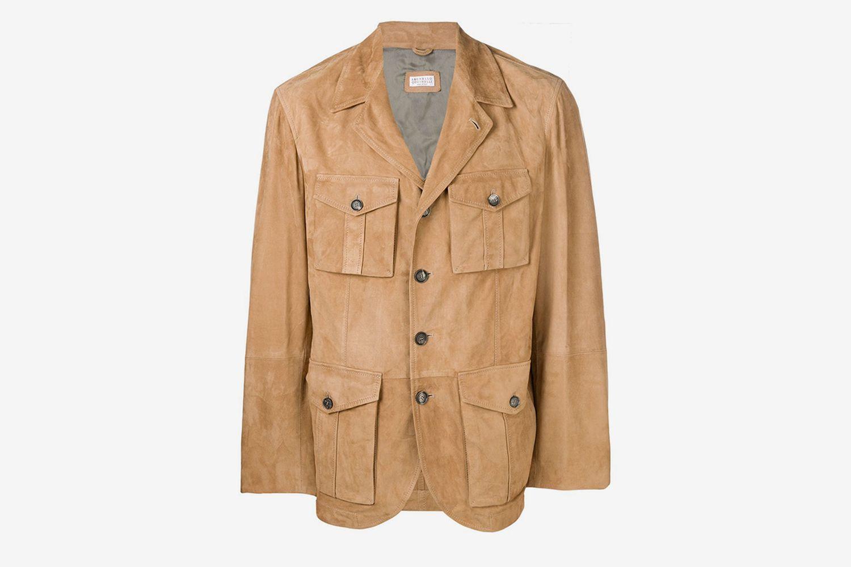 Multi-Pocket Leather Jacket