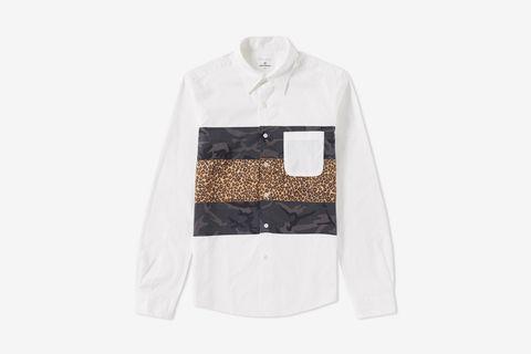 Fabric Mix Shirt