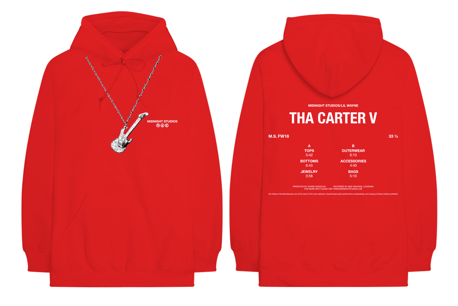 lil wayne carter v 5 merch midnight studios Tha Carter V bravado