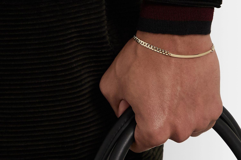 14-Karat Gold ID Bracelet