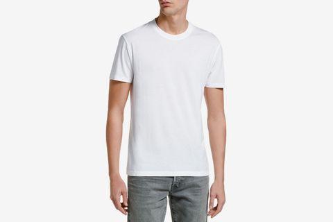 Solid-Knit Crewneck T-Shirt