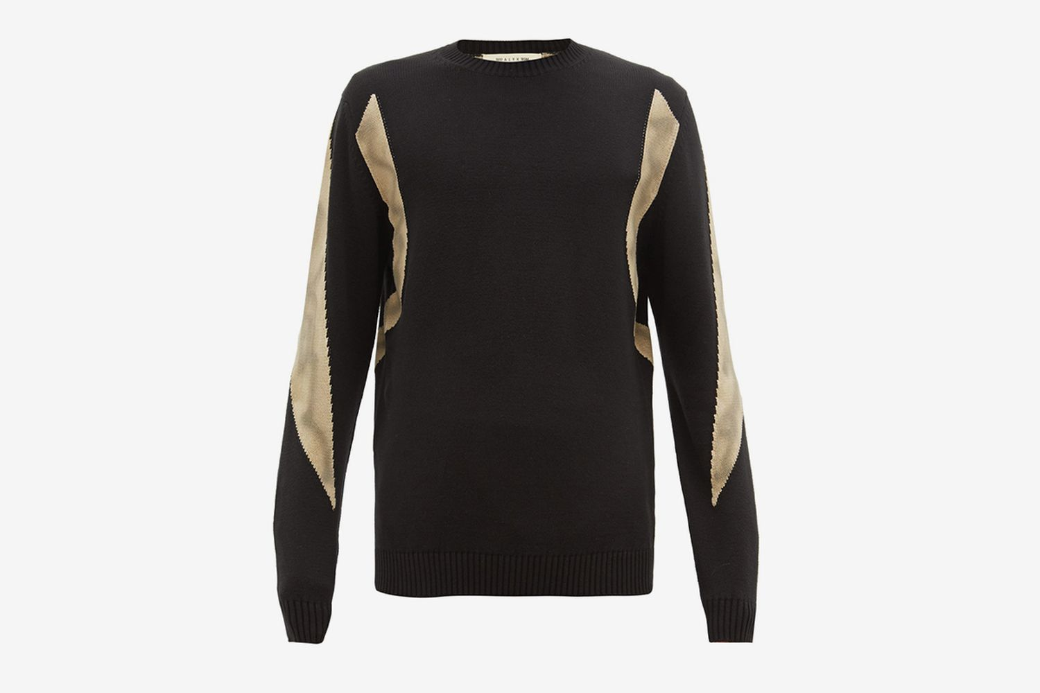 Panelled Cotton Sweater