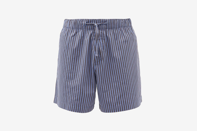 Short de pyjama rayé en coton biologique