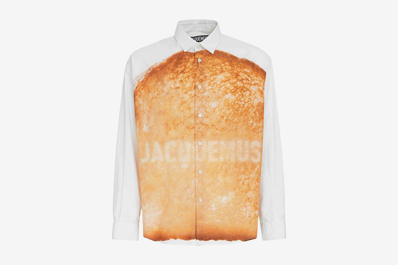 Toast & Logo Printed Cotton Shirt