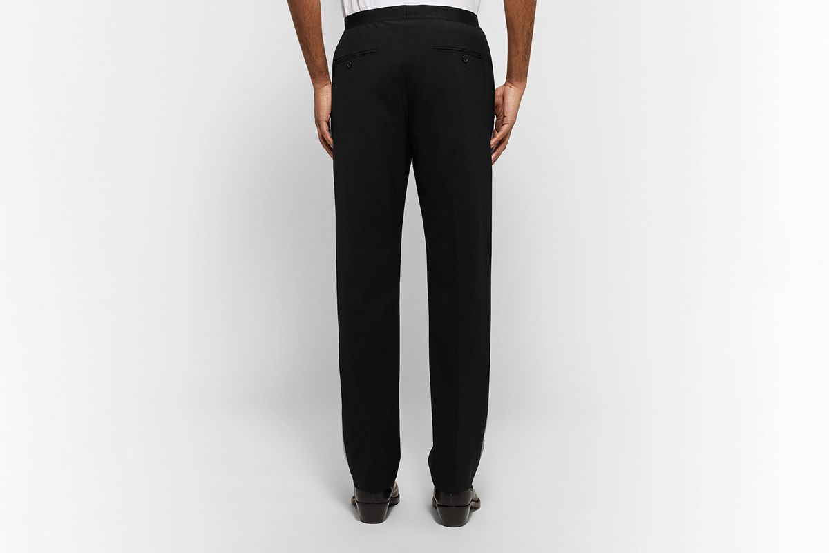 Reflective-Trimmed Stretch-Wool Trousers