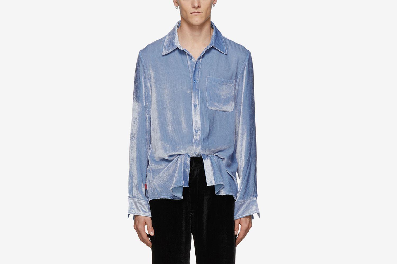 Silk Corduroy Sander Fluid Shirt