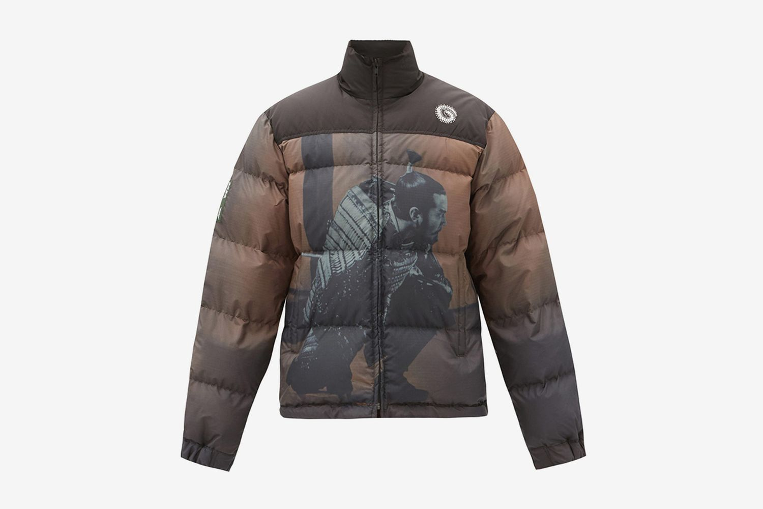 Printed Quilted Down Jacket