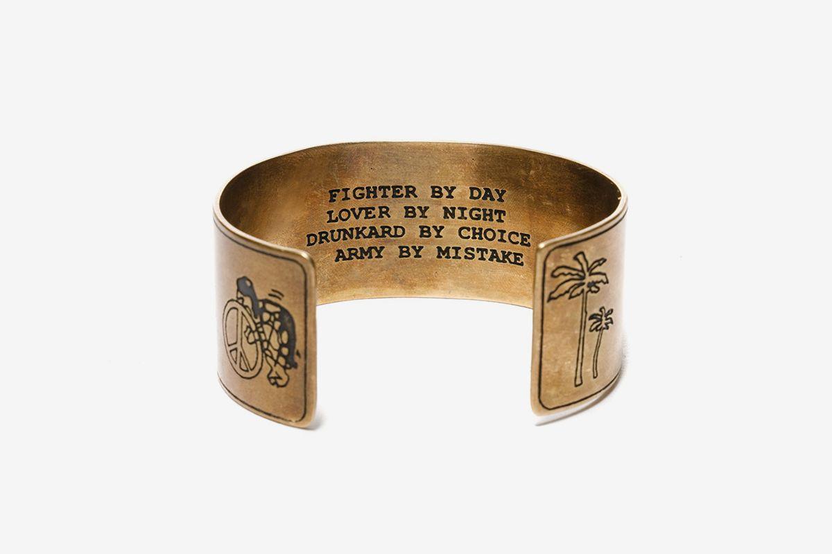 Brass Souvenir Bangle Pin Up Girl