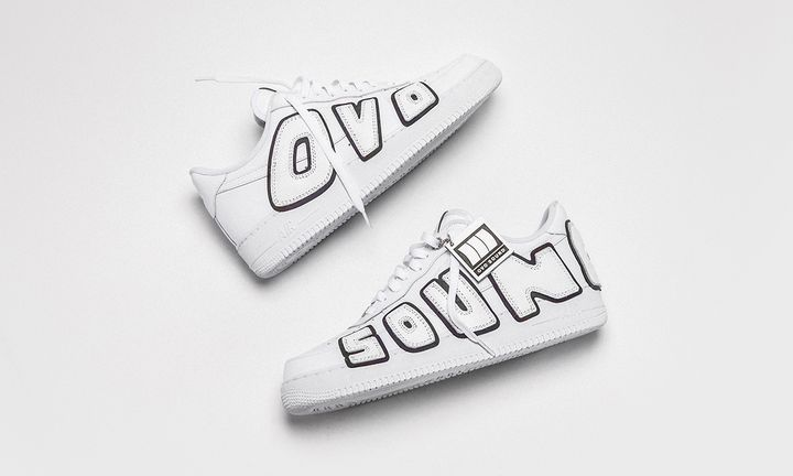 "The Shoe Surgeon Drake Air Force 1 ""OVO Sound"" custom sneaker"