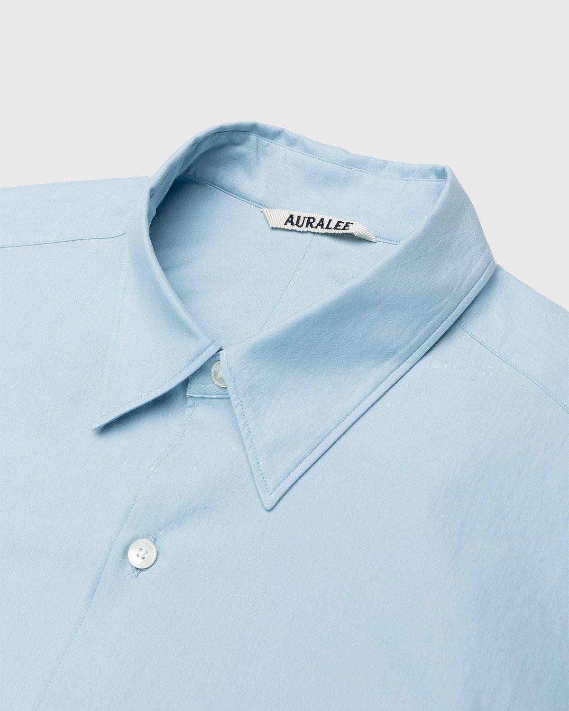Auralee – Twill Shirt Blue - Image 3