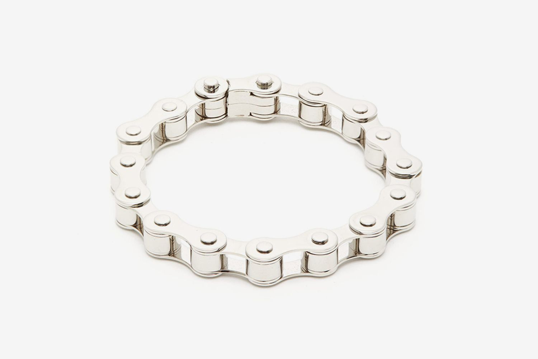 Bicycle Chain Silver-Tone Bracelet
