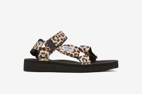Leopard Beach Sandals