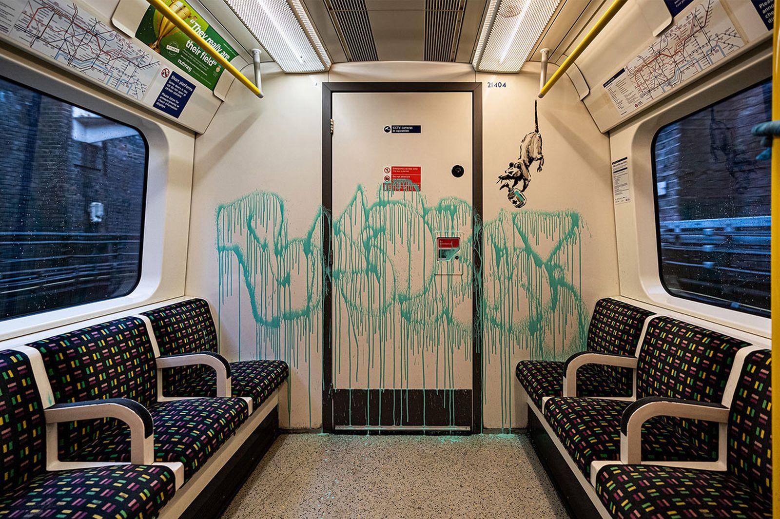 Banksy mask artwork