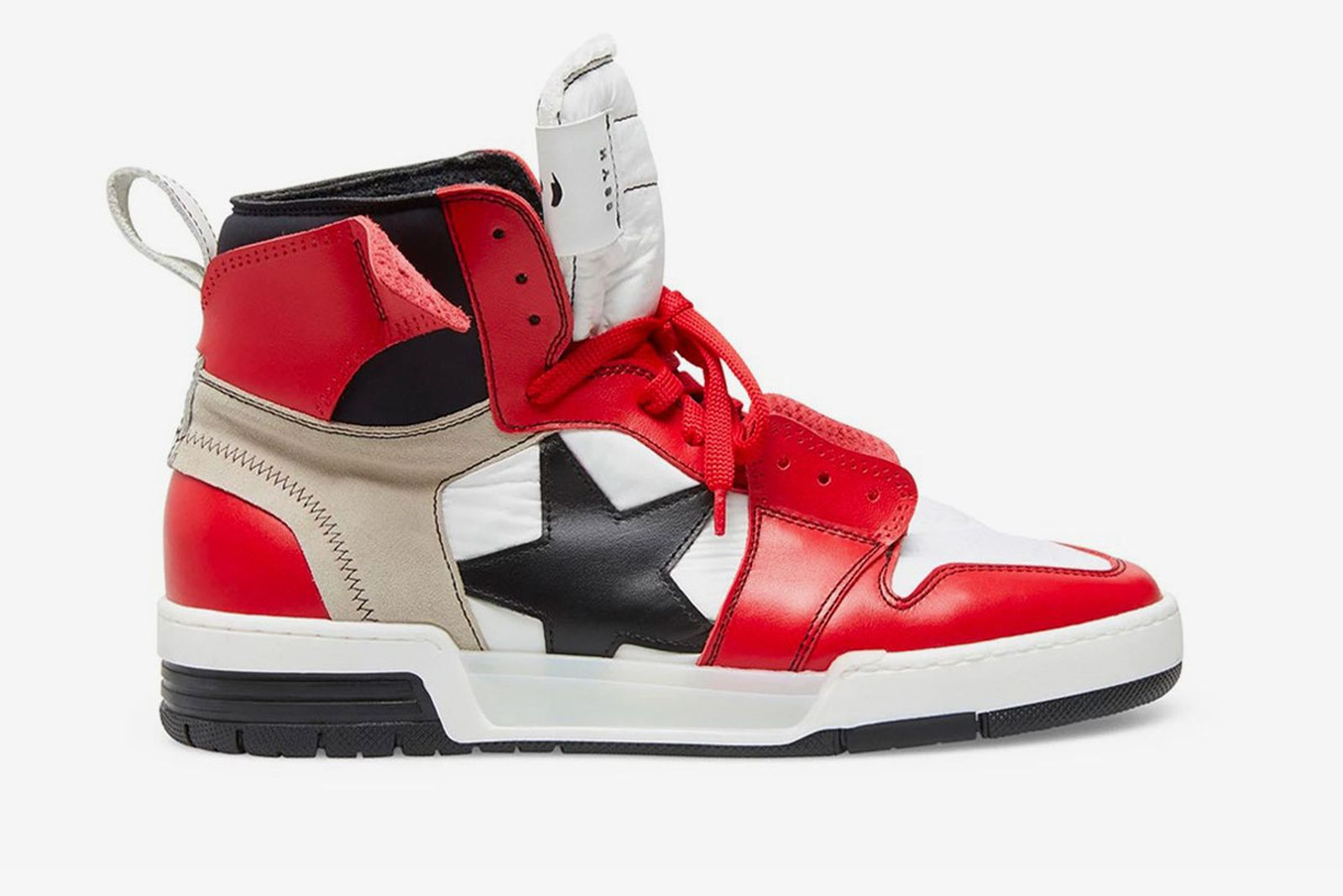 Steve Madden high-top sneaker red white black star