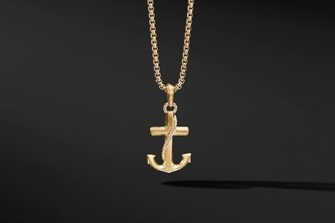 Maritime Anchor Amulet in 18K Gold