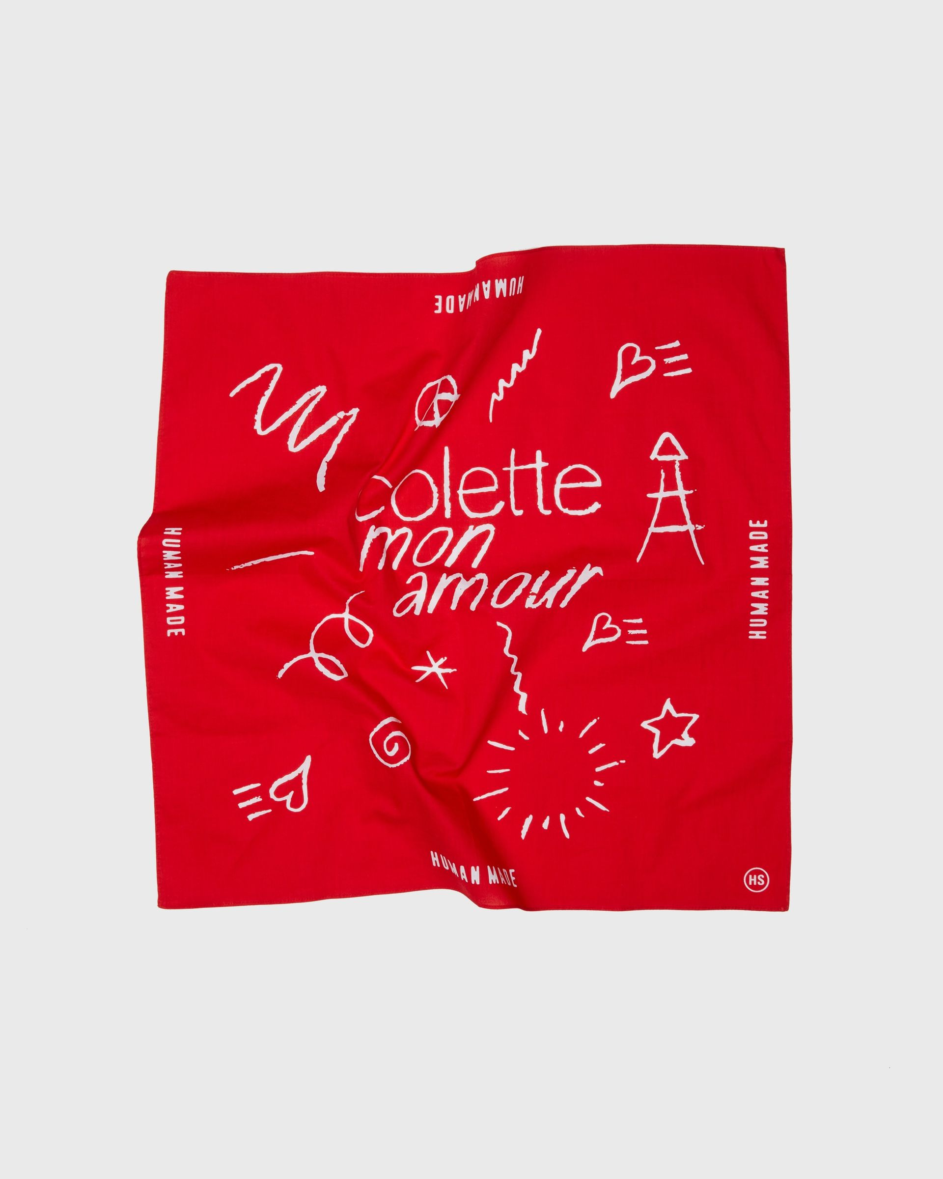 Human Made x colette Mon Amour - Bandana Red - Image 1