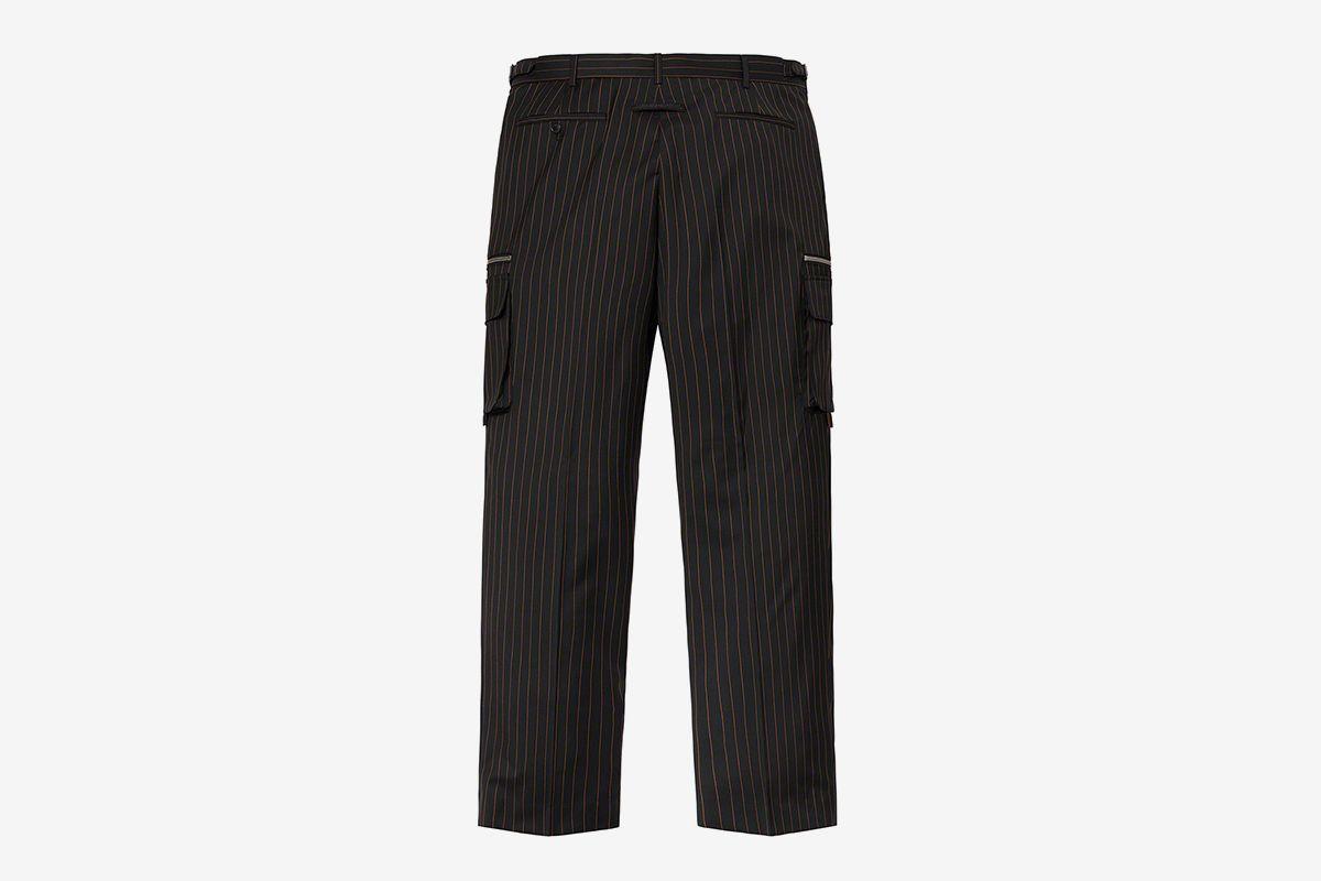 Pinstripe Cargo Suit Pant