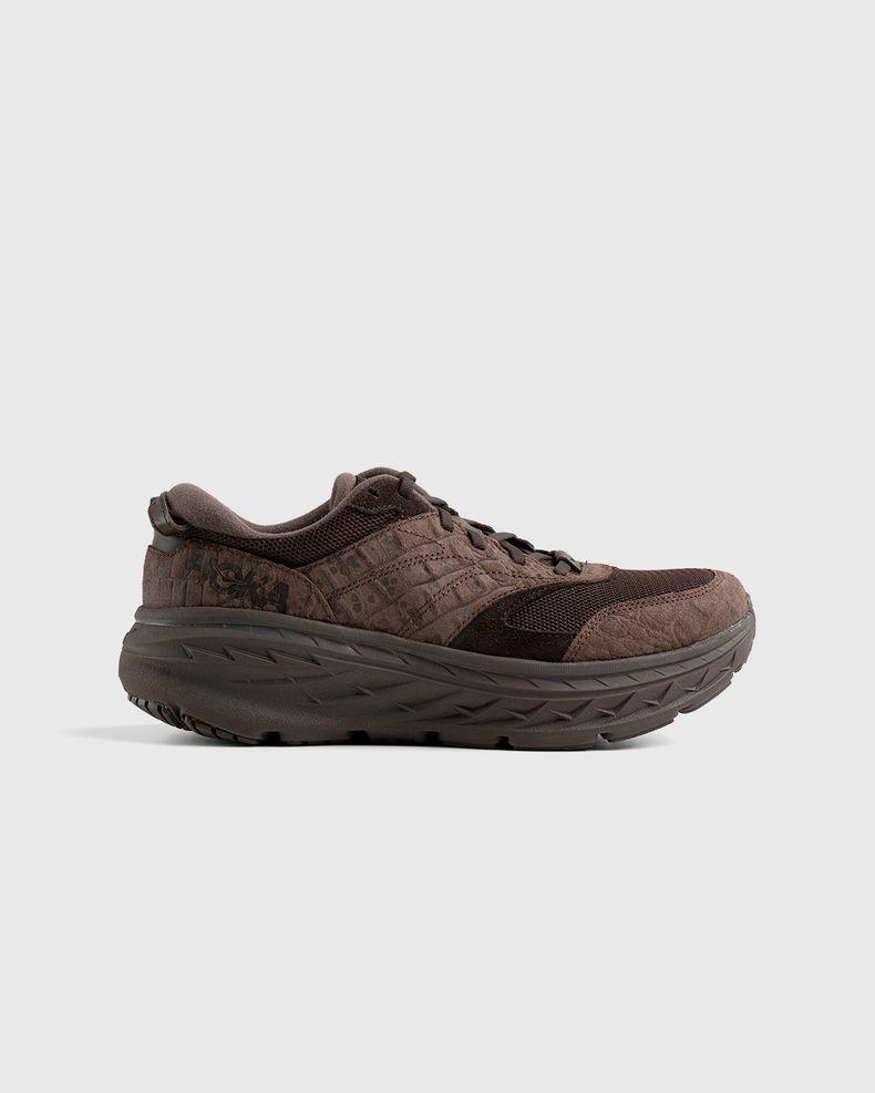 HOKA x Engineered Garments – Bondi L Brown Croc Leather