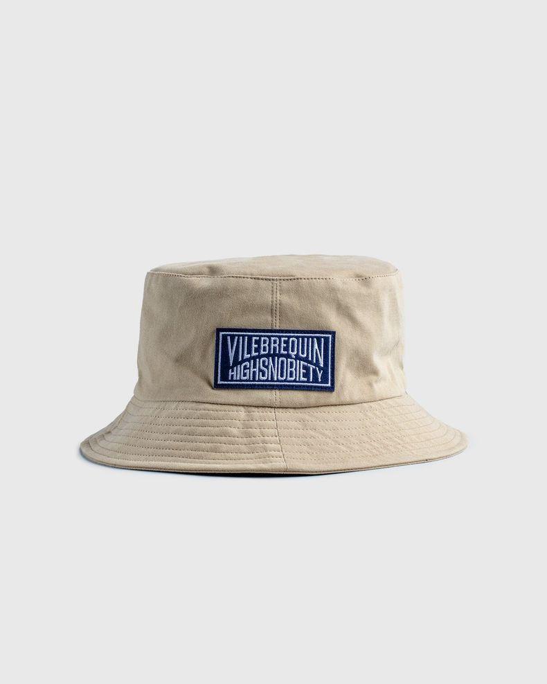 Vilebrequin x Highsnobiety — Logo Bucket Hat Beige
