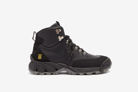Monogram Logo Leather Hiking Boots