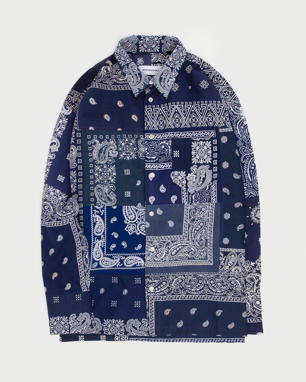 Miyagihidetaka Bandana Shirt Navy  - Image 1