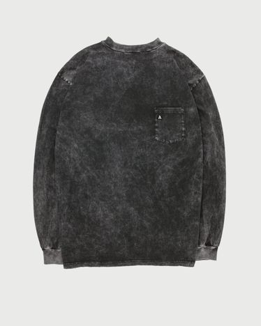 Aries - Acid Wash Pocket Tee Black