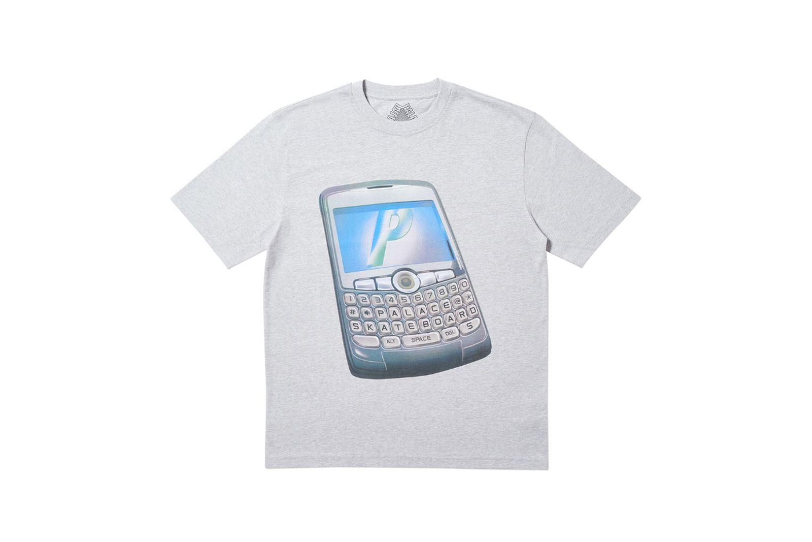 Palace 2019 Autumn T Shirt Ping grey marl