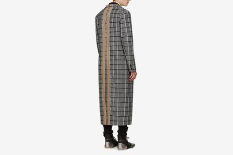 Wool Check Coat