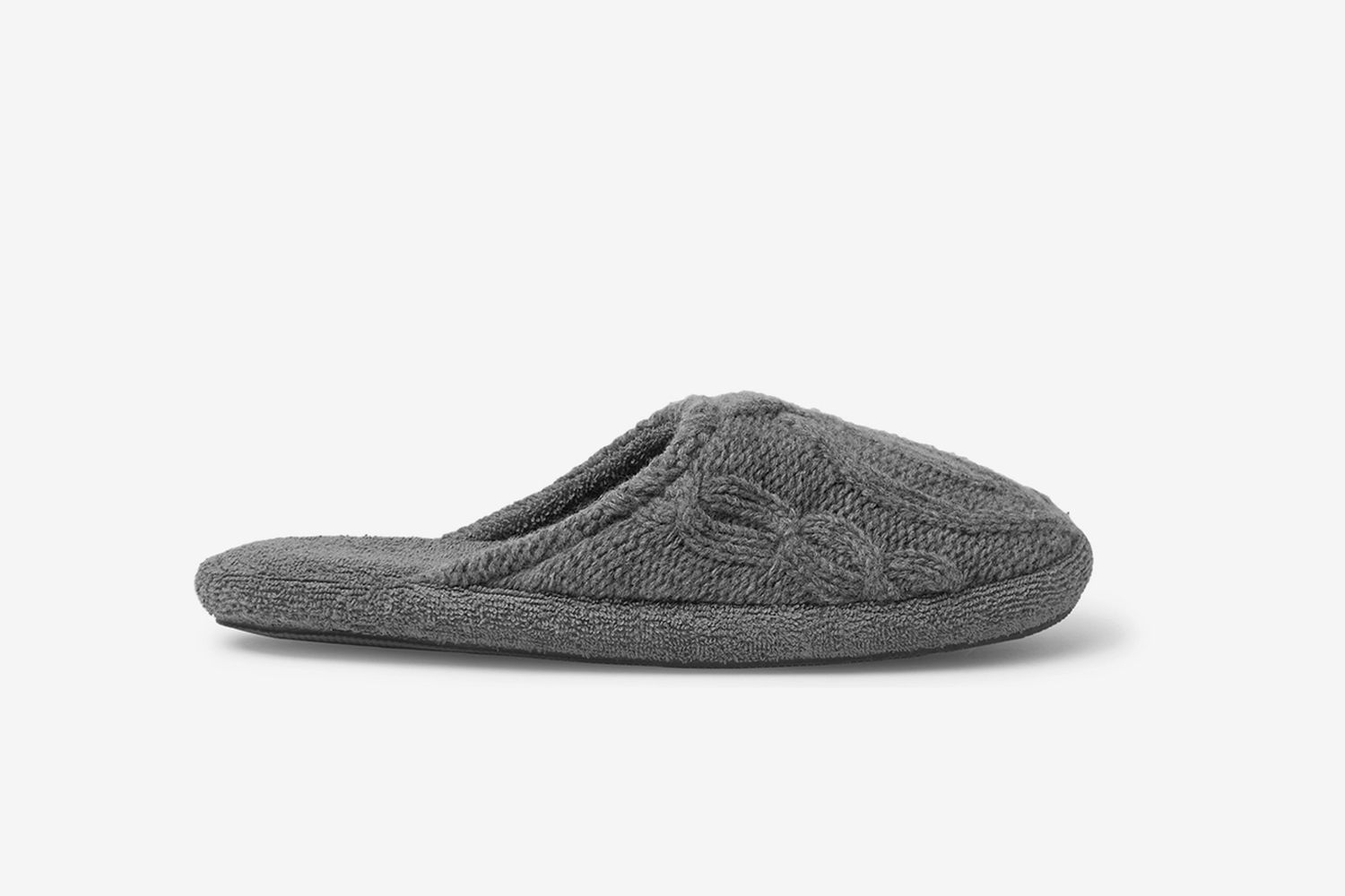 Harrison Cable-Knit Wool-Blend Slippers