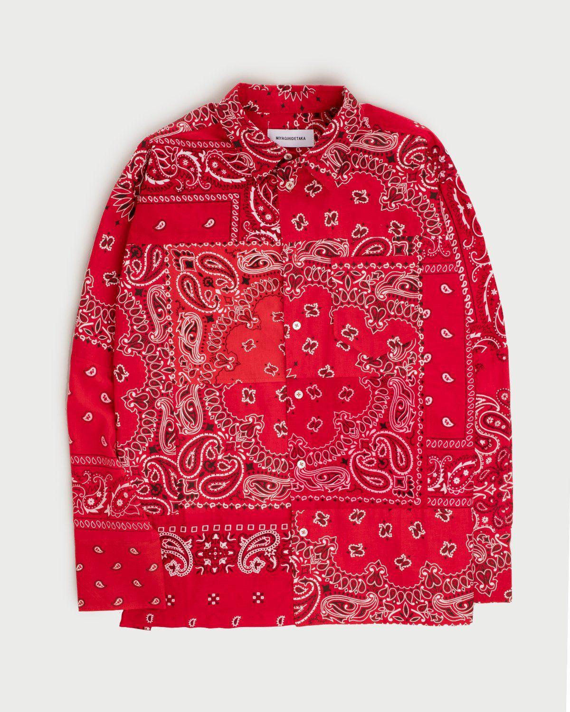 Miyagihidetaka Bandana Shirt Red  - Image 1